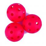 Spokey Turn florbalové míčky 3ks červené