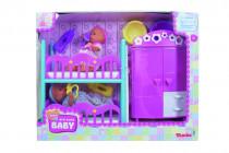 MNB Detská izba + 2 bábiky (pije + ciká) 12 cm