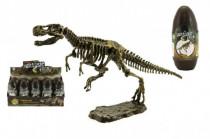 Vajcia dinosaurus 3D kostra plast 18cm asst - mix variantov či farieb