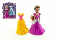 Bábika meniace šaty plast 16 cm 2 druhy