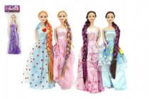 Bábika s dlhým vrkočom bez kĺbového plast 29cm asst - mix variantov či farieb