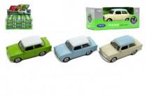Auto Welly Trabant 1:60 kov 7cm mix farieb voľný chod - mix variantov či farieb