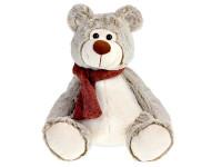 Medveď plyšový 29 cm sediaci so šálom
