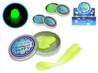 Inteligentná plastelína / plastelína svietiace v plechovke 8x8cm - mix farieb