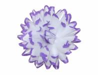 Kvet voskový JIŘINA DEKOR bielo fialový 13cm