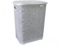 kôš na špinavé prádlo MONAKO 57x45x38cm plastový, ŠE metalíza