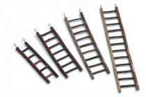 Rebrík drevený prírodný 9 priečok Karlie 39 cm