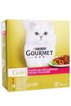 Gourmet Gold Mltp konz. mačka kúsky duš.a gril.8x85g - VÝPREDAJ