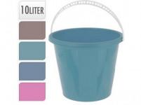 vedro 10l s mierkou plastové, K - mix farieb