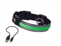 Obojok nylon svietiace zelený Nobby 36-51 cm
