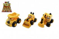 Auto stavební pro nejmenší plast 9cm na zpětné natažení 12m+ - mix variant či barev