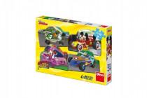 Puzzle Mickey a Minnie na pretekoch 4x54 dielikov 19x13cm