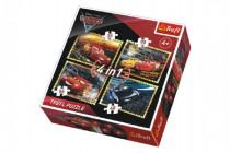 Puzzle 4v1 Auta/Cars 3 Disney