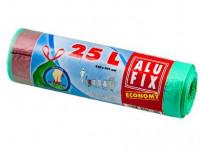 vrecia na odpadky zaťahovací 25l (15ks) 45x 50cm ZO 12μ ECONOMY