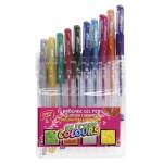 Glitter gélové pero s trblietkami - mix farieb, 10ks / sada
