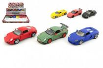 Auto Kinsmart Porsche kov 13cm na spätné natiahnutie - mix variantov či farieb