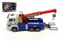 Auto nákladní odtahovka plast 24cm na baterie se světlem se zvukem