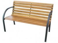 lavička záhradné 122x64x80cm železo ČER / drevo
