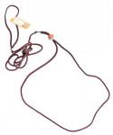 Vodítko nylon predvádzacie - hnedé B & F 0,3 x 140 cm