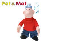 Postavička Mat plyšová 33cm na baterie se zvukem 0m+ v sáčku Pat a Mat