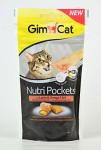 Gimcat Nutri pockets losos a omega3 + 6 60g - VÝPREDAJ