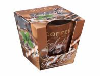 Sviečka v skle COFFEE Spices-LATTE vonná 115g