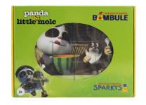 Drevené kocky Krtko a Panda 12 ks