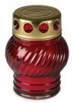 Sviečka sklo červená - guľa 30 g (230CS1039)