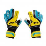 Spokey SUPPORT brankářské rukavice žluto-modré roz. 4