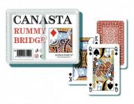 Canasta spoločenská hra - karty 108ks v plastovej krabičke