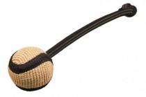Pešek tréningový jutový loptička s pútkom B & F 7 cm