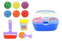Sada Plastelína / plastelína Super Dough 6x55g s doplnkami v plastovom kufríku