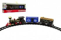 Lokomotíva / Vlak + vagóniky s dráhou 11ks plast 45cm na batérie