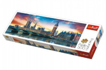 Puzzle Big Ben a Westminsterský palác, Londýn panoráma 500 dielikov 66x23,7cm