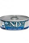 N & D CAT OCEAN Adult Sea Bass & Sardina & Shrimps 80g