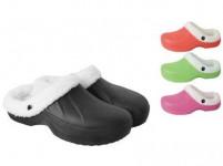 papuče gumové zimné dámske veľ. 40 (pár) - mix farieb