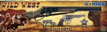 Kovbojská sada veľká - puška, revolver, putá, šerifská hviez