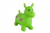 Hopsadlo kôň skákacie gumový zelený