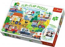 Puzzle 36 dielikov Flip-flap Autá