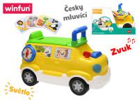 Auto edukačné / odrážadlo 42x22x30 česky hovoriaci na batérie so svetlom a zvukom