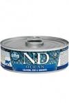N&D CAT OCEAN Adult Salmon & Codfish & Shrimps 80g