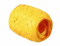 Stuha RAFIA vajíčko žlutá šířka 12,5mm délka 20 m
