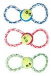 Hračka pes lano s loptičkou 25 cm, mix farieb