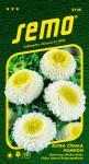 Semo Astrovka čínska - Pompon white and yellow 0,5g