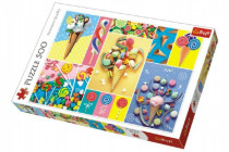 Puzzle Obľúbené sladkosti 500 dielikov 48x34cm