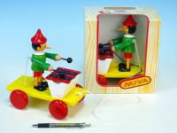 Pinocchio s xylofónom ťahacie drevo 20cm