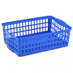 košík stohovateľný A5 25,5x17x7cm plastový - mix farieb