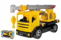 Autojeřáb plast 70cm 2-osý žlutý