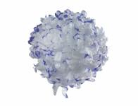 Květ voskový CHRYZANTÉMA bílo fialový 14cm