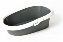 WC s okrajom - Excalibur dôvo + antracit 43 x 31 x 14 cm